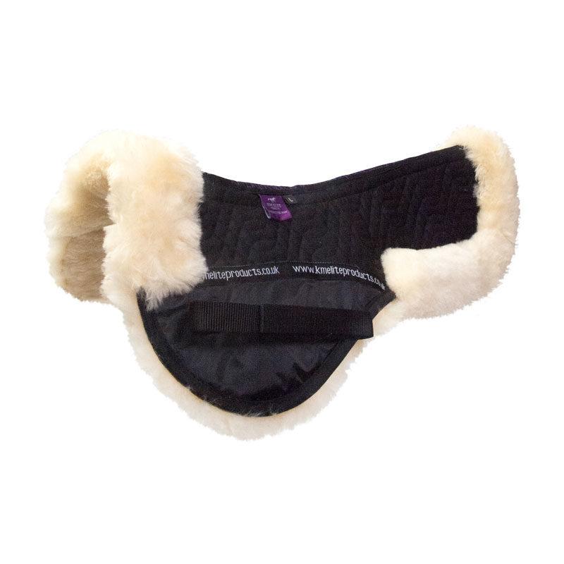 KM Elite Sheepskin Half Pad Black Natural
