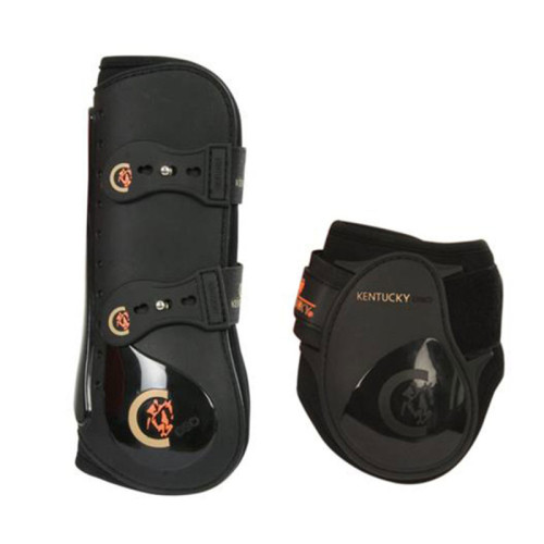 Kentucky Horsewear Elastic Tendon Boots and Young Horse Set Black