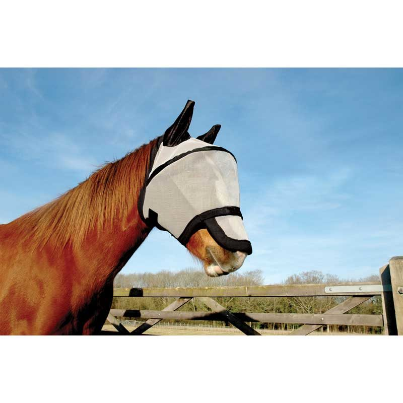 KM Elite Space Fly Mask With Nose