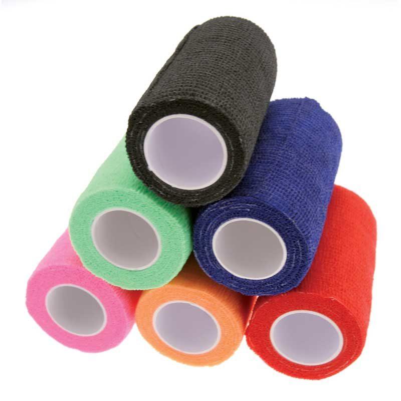 KM CoHesive Bandage Wrap Mixed Colours