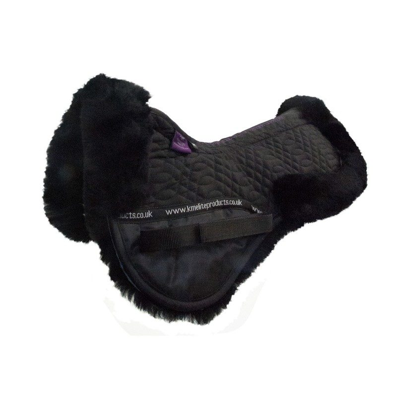 KM Elite Sheepskin Half Pad Black Black
