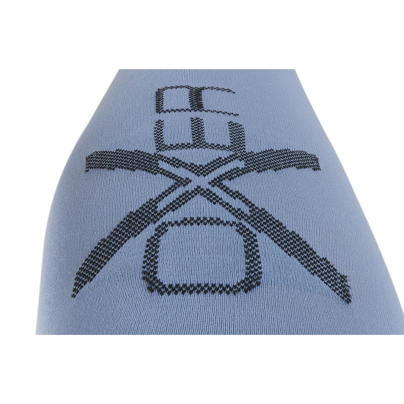 OXER Competition Riding Socks Baby Blue Logo