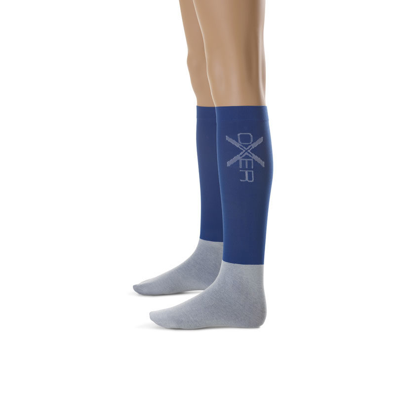 OXER Competition Horse Riding Socks Blue