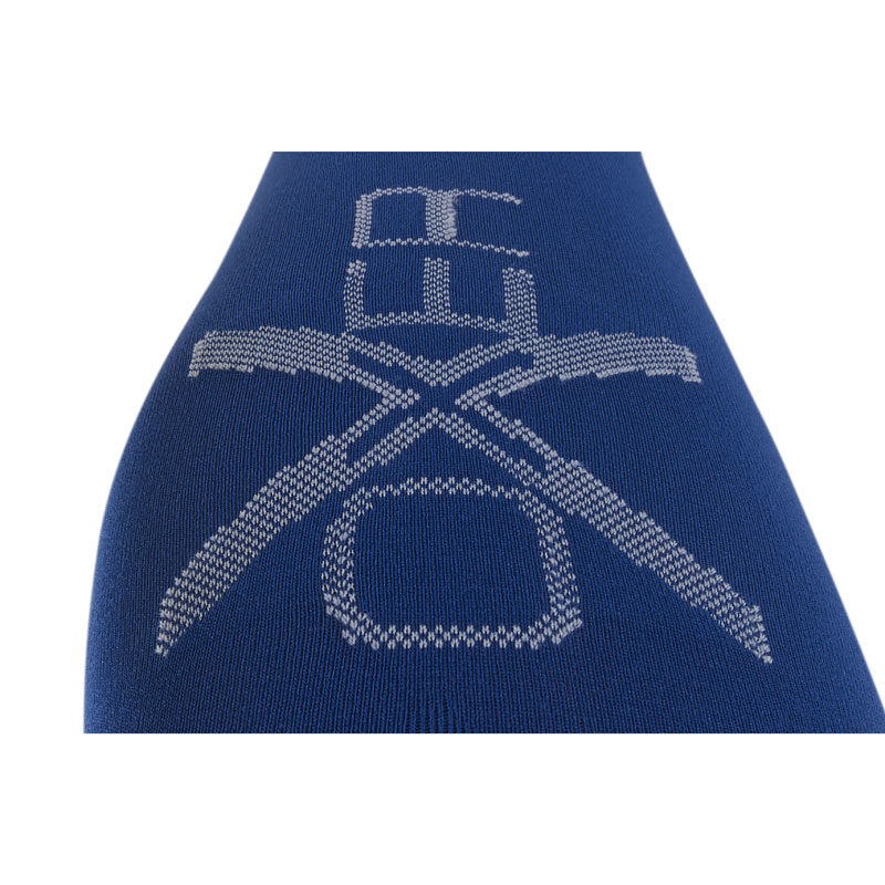 OXER Competition Riding Socks Royal Blue Logo