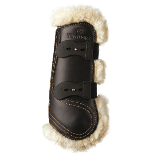 Kentucky Horsewear Leather Sheepskin Tendon Boots Black