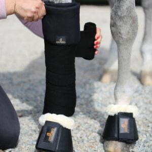 Kentucky Horsewear Stable Bandage Pads Black 2