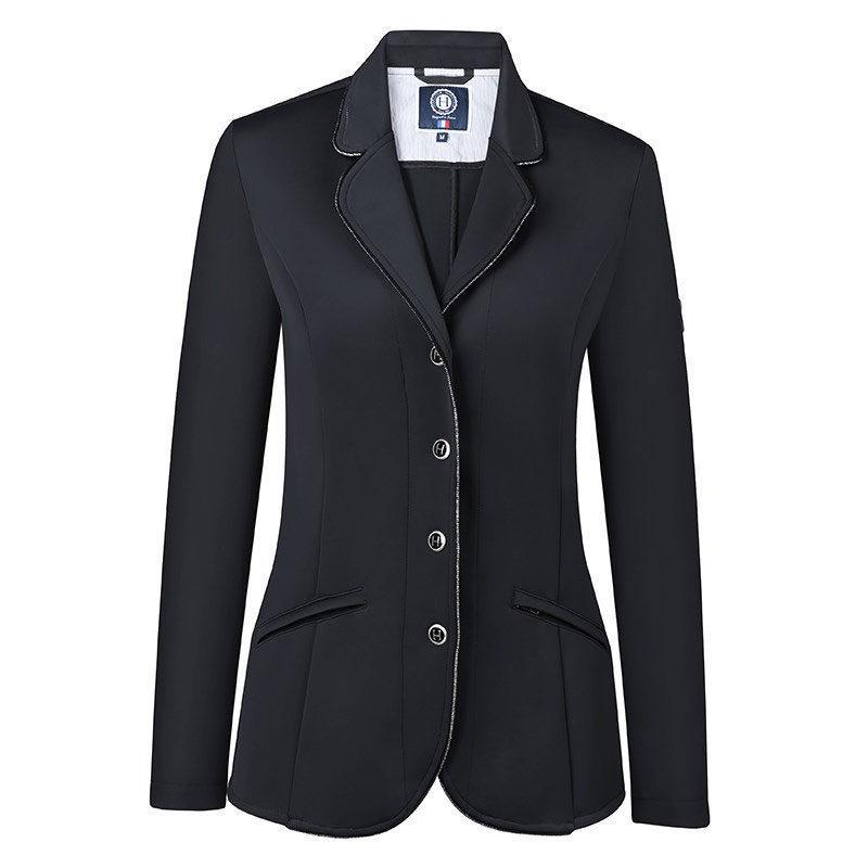 Harcour Ladies Competition Show Jacket Cella Black Front