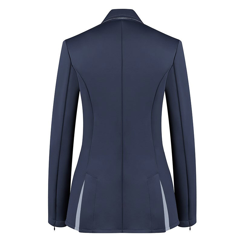 Harcour Ladies Competition Show Jacket Cella Navy Back