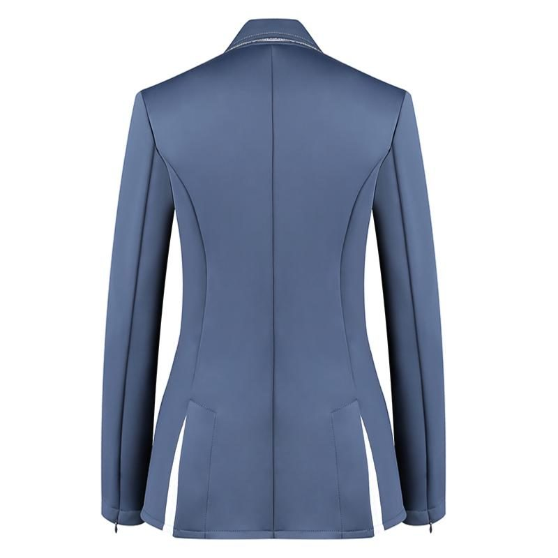 Harcour Ladies Competition Show Jacket Cella Slate Back