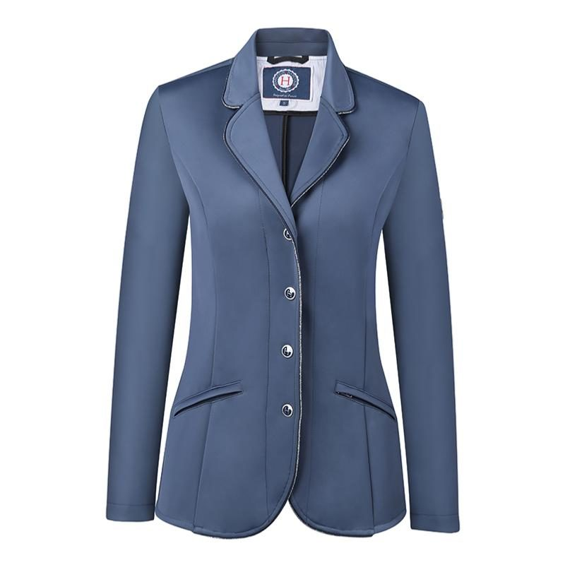 Harcour Ladies Competition Show Jacket Cella Slate Front