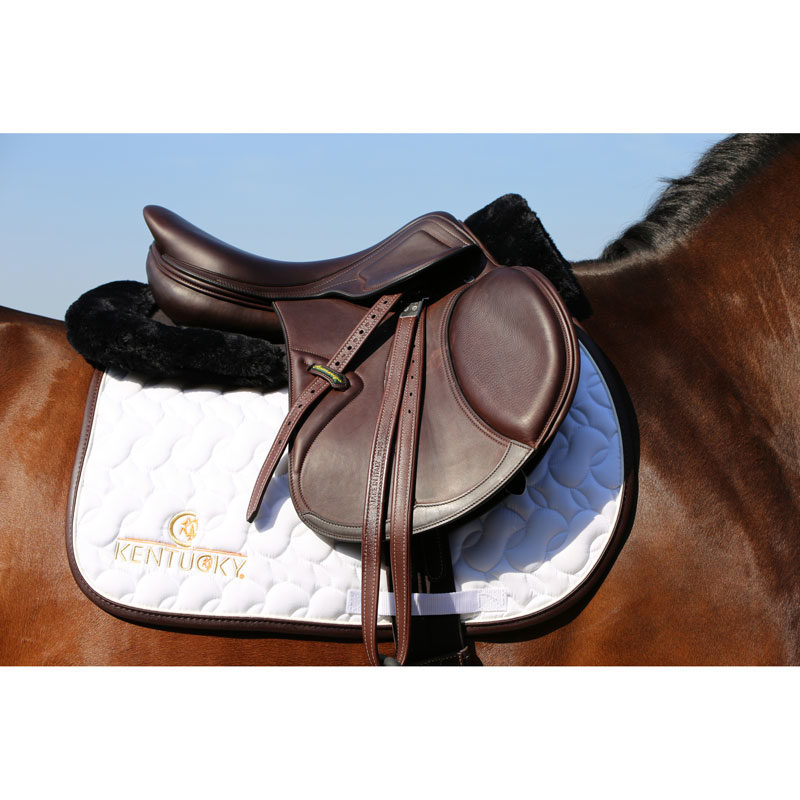 Kentucky Horsewear Anatomic Sheepskin Half Pad Black 1