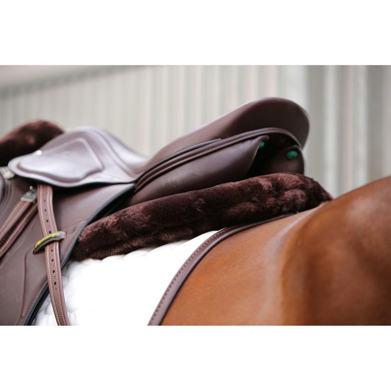 Kentucky Horsewear Anatomic Sheepskin Half Pad Brown 2