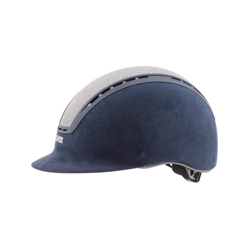 UVEX Suxxeed Glamour Riding Hats Blue Silver