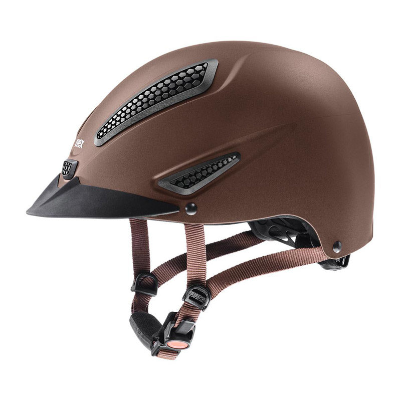 UVEX Perfexxion II Riding Hat Brown