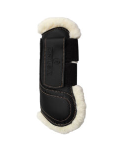 Kentucky Horsewear Sheepskin Leather Tendon Boots with Velcro Closure