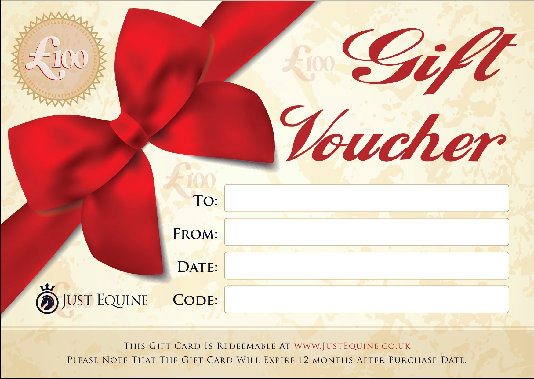 Gift vouchers and gift cards from just equine equestrian supplies gift vouchers 100 just equine negle Gallery