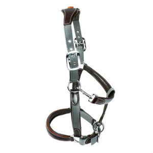KM Elite Leather and Nylon Headcollar