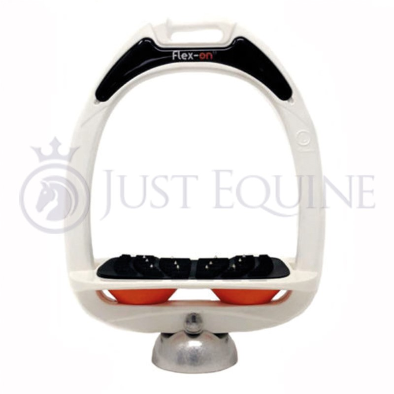 Flex-On Stirrups White White Orange