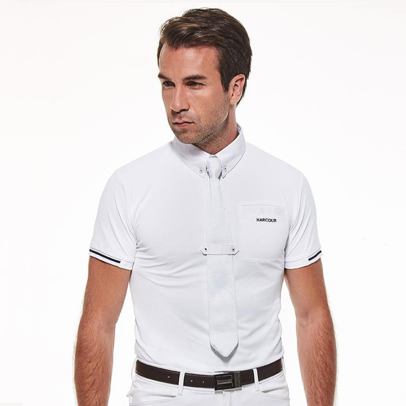 Harcour Mens Crystallo Competition Shirt Short Sleeve