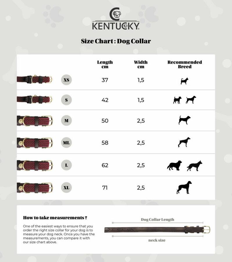 Kentucky Dogwear Dog Collar Size Chart