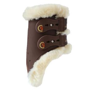 Kentucky Horsewear Sheepskin Elastic Fetlock Boots Brown