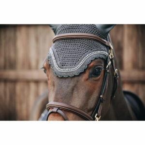 Kentucky Horsewear Fly Veil Wellington Stone and Pearl Grey