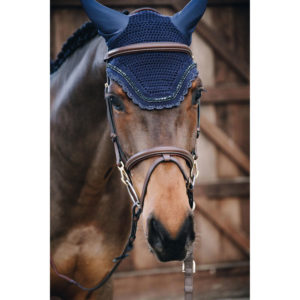 Kentucky Horsewear Fly Veil Wellington Stone and Pearl