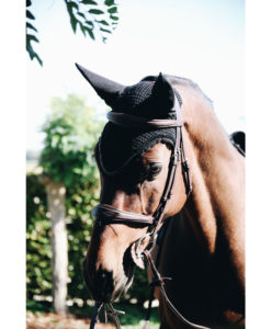 Kentucky Horsewear Long Fly Veil Stone and Pearl