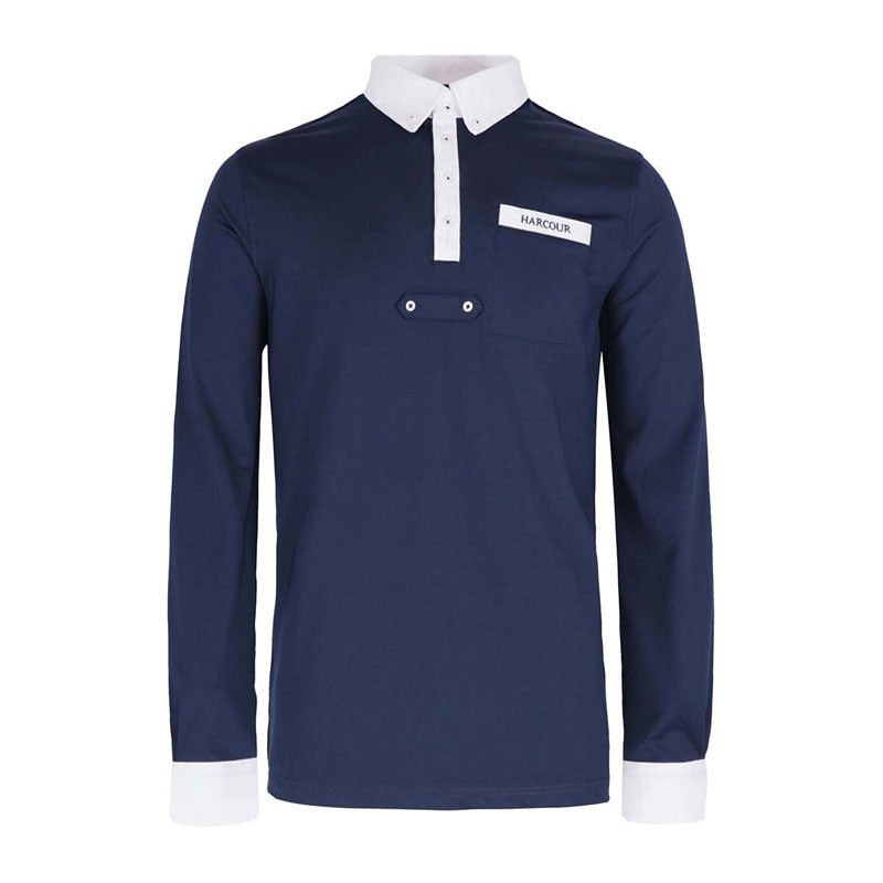 Harcour Etienne Mens Technical Long Sleeve Shirt Navy 1