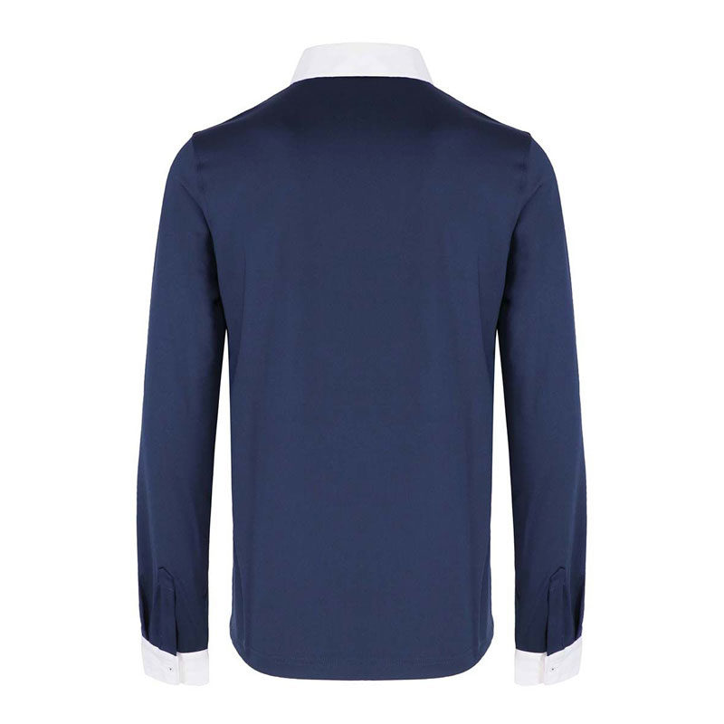 Harcour Etienne Mens Technical Long Sleeve Shirt Navy 2