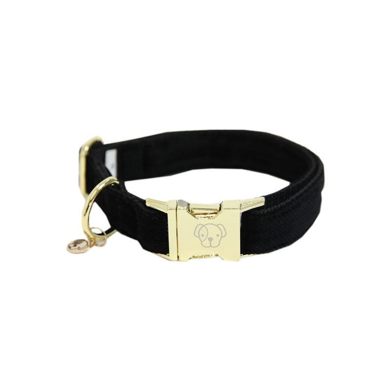 Kentucky Dogwear Corduroy Dog Collar Black