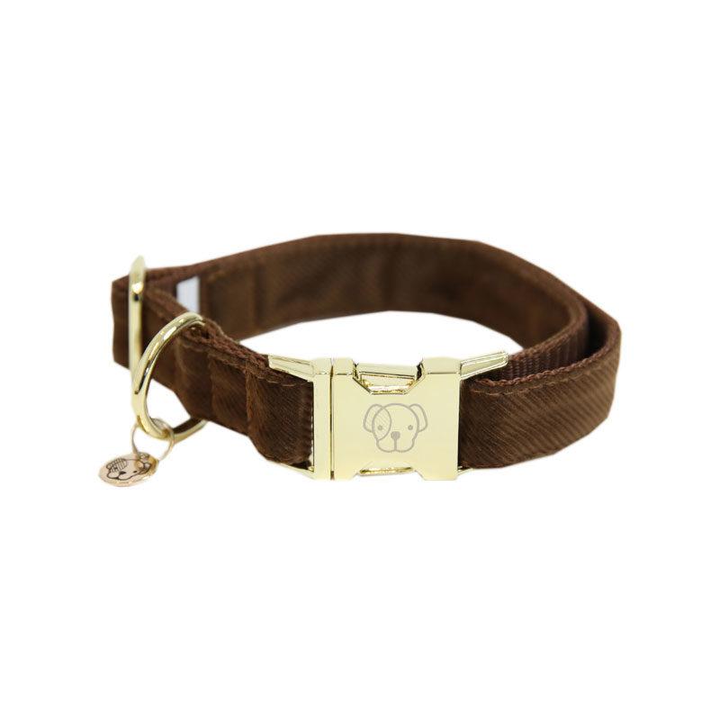 Kentucky Dogwear Corduroy Dog Collar Brown