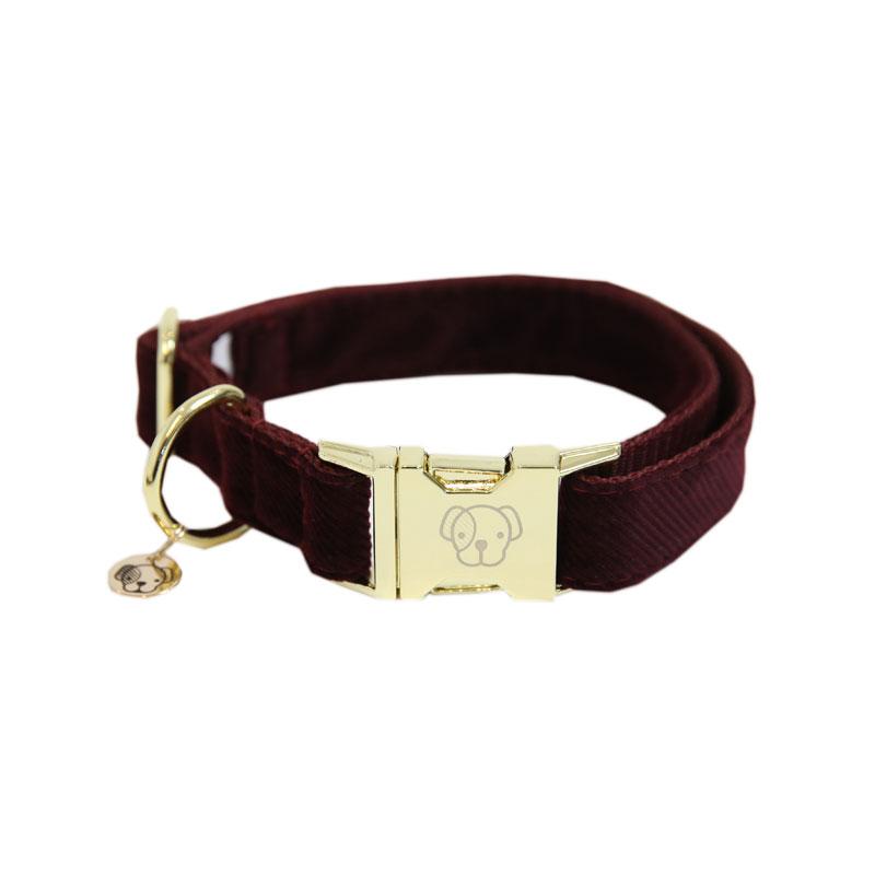 Kentucky Dogwear Corduroy Dog Collar Burgundy