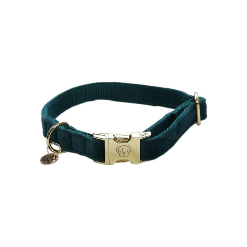 Kentucky Dogwear Velvet Dog Collars Emerald 1