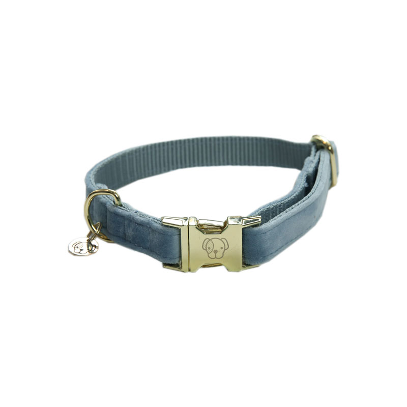 Kentucky Dogwear Velvet Dog Collars Light Blue 2