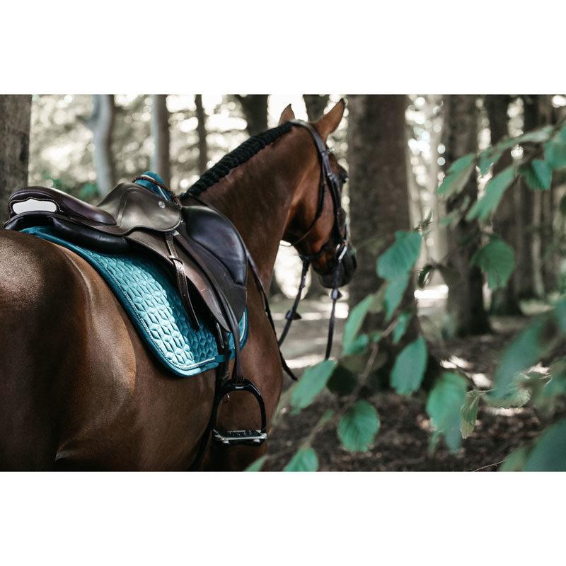 Kentucky Horsewear Velvet Saddle Pad Emerald Show Jumping 8