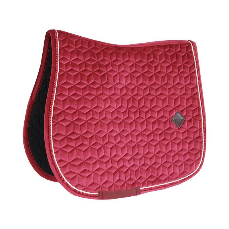 Kentucky Horsewear Velvet Saddle Pad Fuchsia