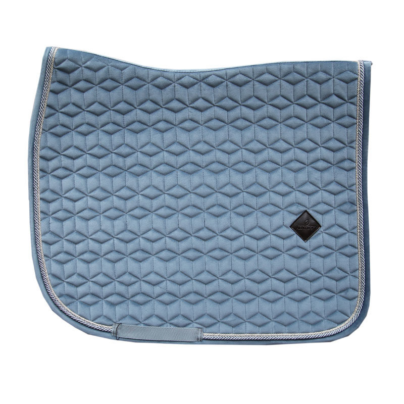 Kentucky Horsewear Velvet Saddle Pad Light Blue Dressage