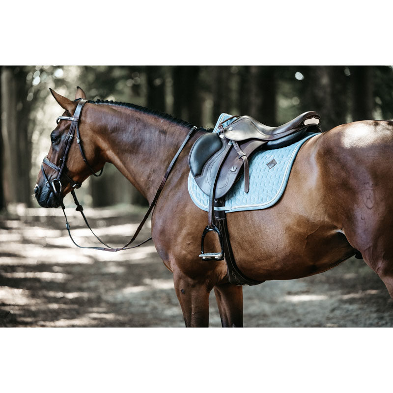Kentucky Horsewear Velvet Saddle Pad Light Blue Show Jumping 1