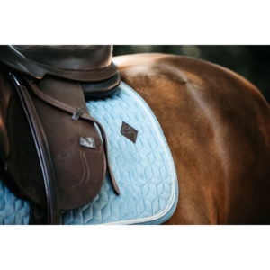Kentucky Horsewear Velvet Saddle Pad Light Blue Show Jumping 4