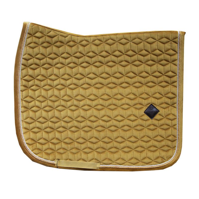 Kentucky Horsewear Velvet Saddle Pad Mustard Dressage