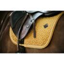 Kentucky Horsewear Velvet Saddle Pad Mustard Show Jumping 4