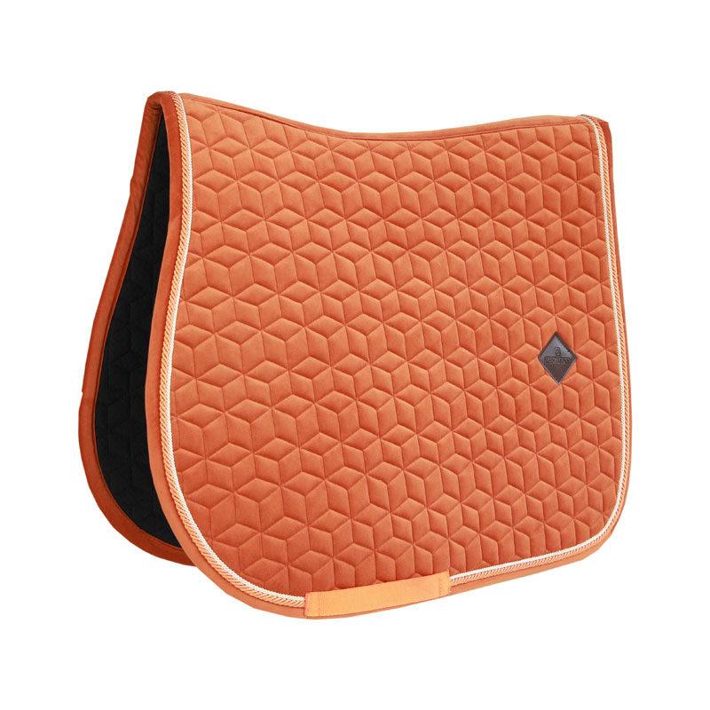 Kentucky Horsewear Velvet Saddle Pad Orange