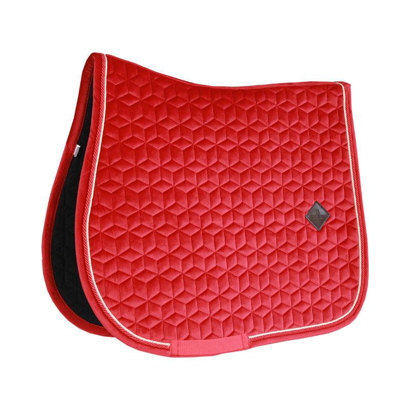 Kentucky Horsewear Velvet Saddle Pad Red