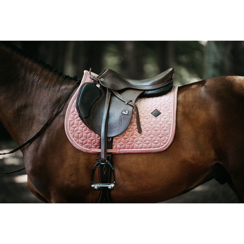 Kentucky Horsewear Velvet Saddle Pad Rose Gold Show Jumping 3