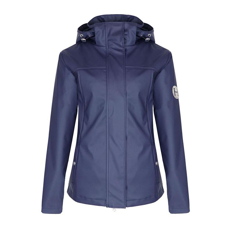 rain jacket TOUQUET navy front zoom