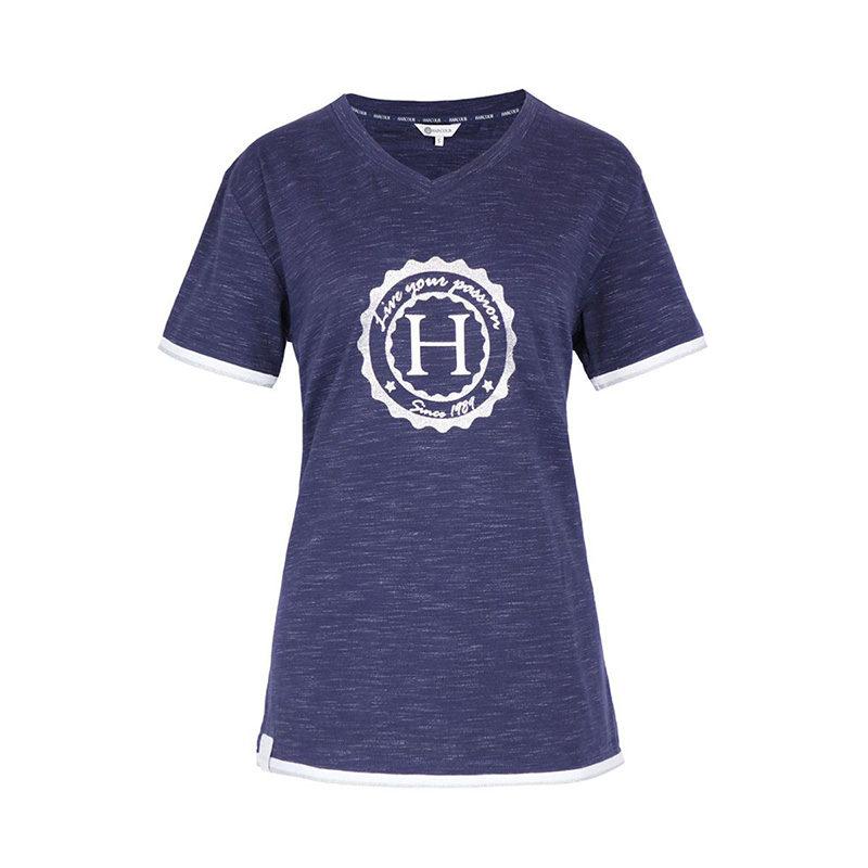 woman-Tshirt-HAVRE-navymelange-front-zoom