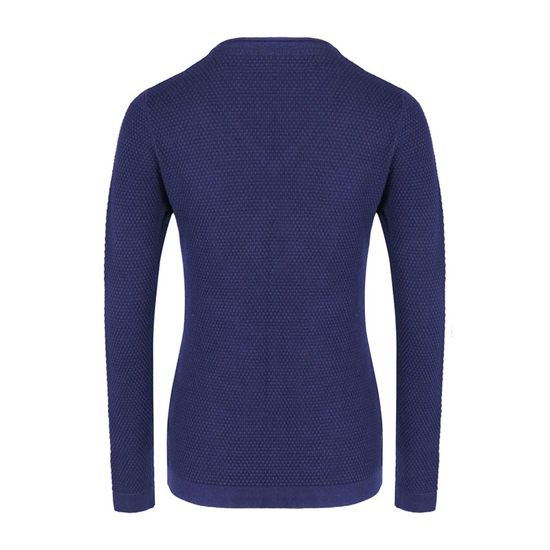 woman pullover TOULON navy back zoom