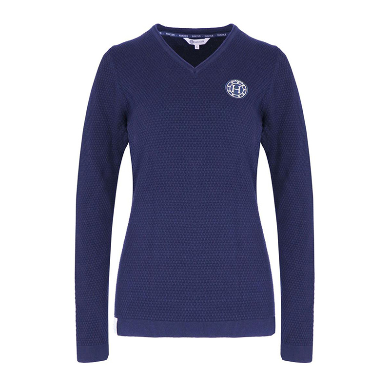 woman pullover TOULON navy front zoom