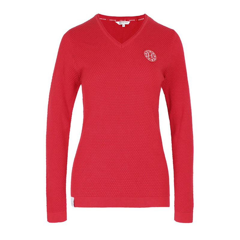 woman pullover TOULON red front zoom